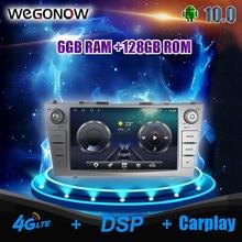 Carplay DSP IPS אנדרואיד 10.0 6GB 128GB LTE רכב נגן DVD GPS WIFI Bluetooth 5.0 רדיו עבור טויוטה קאמרי 2007 2008 2009 2010 2011