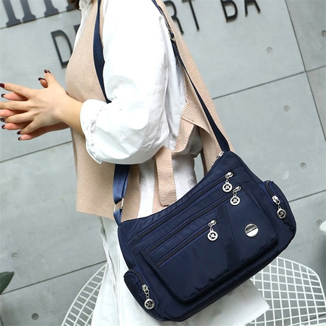 New Casual Crossbody Shoulder Bag Women Bag Nylon Waterproof Messenger Bags For Lady Handbags High Quality Multifunctional 2