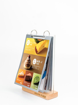 Acrylic Page-turning Table Display Holder Restaurant Milk Tea Shop Menu Double-sided Sign Frame tea lall katki page 10