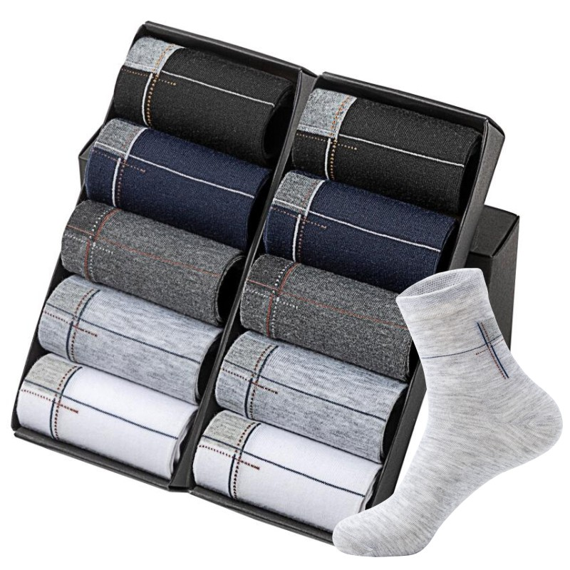 New 2019 Man's Best Quality Cotton Long Socks Wholesale Casual OL Working Socks 20pcs=10pair/lot Size(EU=39-44)
