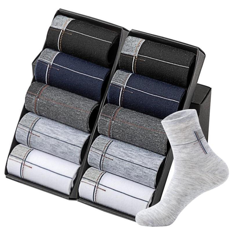 New  Men's Fashion Best Quality Odor-proof Cotton Long  Socks Wholesale Casual OL Business Socks 20pcs=10pair/lot Size(EU=40-45)