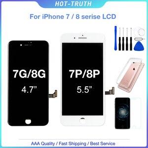 Image 1 - 1 個 AAA + + + Iphone 7 7 プラス 8 8 プラス Oem ディスプレイ 3D タッチスクリーンデジタイザアセンブリ iphone 7 8 プラス液晶 100% テスト