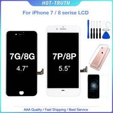 1 pçs aaa + + + + tela para iphone 7plus 8 mais oem display 3d tela de toque digitador assembléia para iphone 7 8plus lcd 100% teste