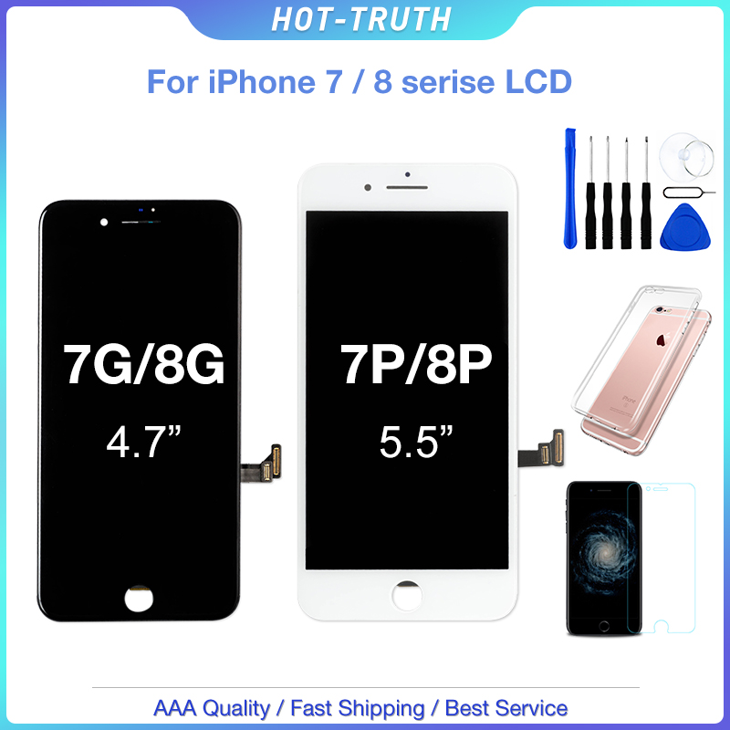 1Pcs AAA+++ Screen For iPhone 7 7plus 8 8plus OEM Display 3D Touch Screen Digitizer Assembly for iPhone 7 8 Plus LCD 100% Test