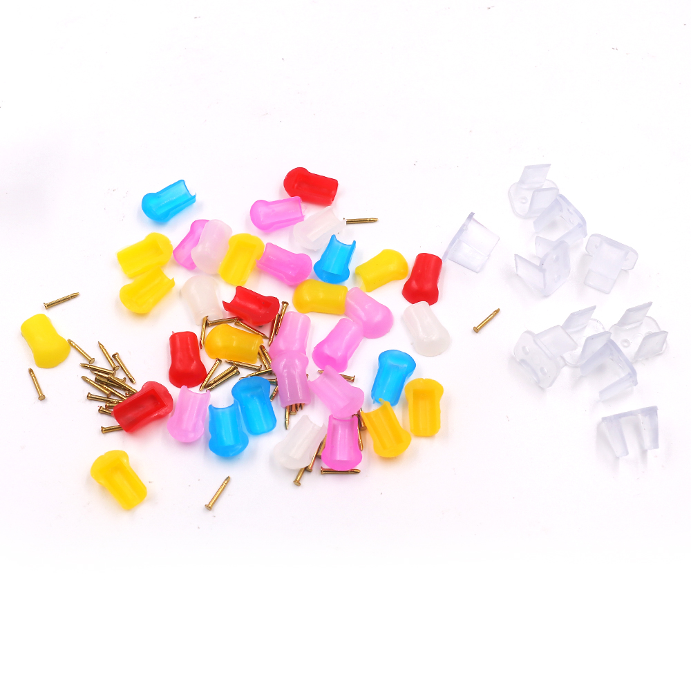 100PCS Neon Light End Cap LED Neon Rope Sealed End Caps For DC12V DC24V DC5V AC220V AC110V 6x12mm Neon Lamp Accessories