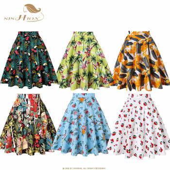 SISHION Skirts Womens Plus Size Women Black Skirt VD0020 Tutu Skirt Women Toucan Palm Floral School jupe femme High Waist Skirt - DISCOUNT ITEM  30% OFF All Category