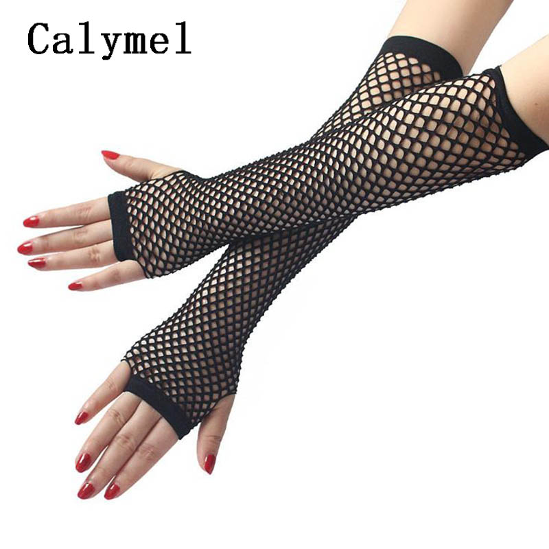 Calymel New Fashion Simple Sexy Mesh Sunscreen Sleeve Long Gloves  Ladies Summer Cycling Driving Gloves