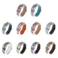 Cremo arc-en-ciel anneaux pour femmes conception Interchangeable anneau creux élégant Bijoux Femme bagues Argent haute Bague polie