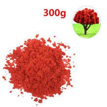 300G Sponge Tree Powder Granular Tree Powder DIY Sand Table Building Model Material DIY Miniature Landscape Trees Decor - Red(China)