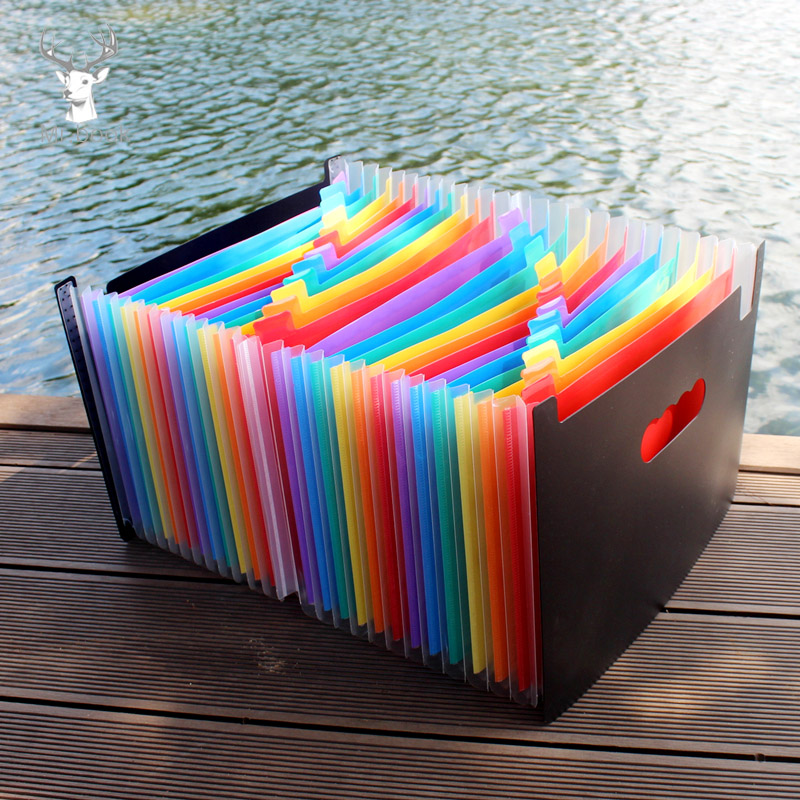 13/24/37 Layer Organ Bag File Holder A4 Document Bag Rainbow Classification Test Papers Tool Business Expanding File Folders