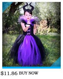 H6fb84ea2df354c728ab537b40d657e2f4 Kids Maleficent Evil Queen Girls Halloween Fancy Tutu Dress Costume Children Christening Dress Up Black Gown Villain Clothes
