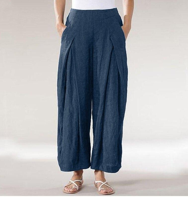 Newest women cotton linen pants plus size 5XL oversize high quality lady pants good clothes casual oversea original design