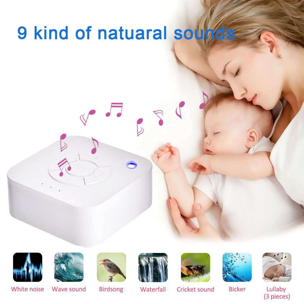 Baby Monitor White Noise Machine USB Rechargeable Timed Shutdown Sleep Sound Machine Sleeping Relaxation For Baby Adult Office T