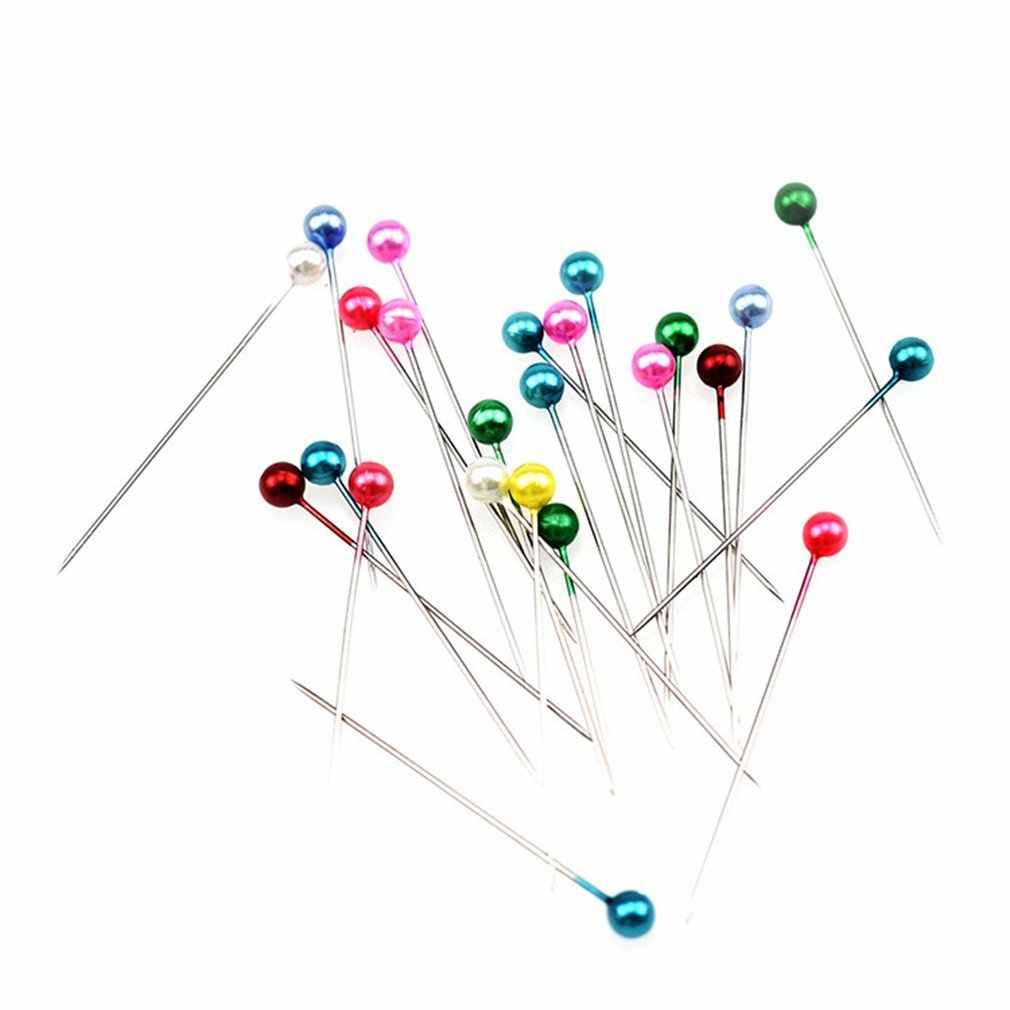 สีสันลูกปัดมุกเข็ม PIN ตัดเข็ม Scrapbooking Patchwork CROSS Stitch แผ่นตำแหน่งเข็มเครื่องมือ