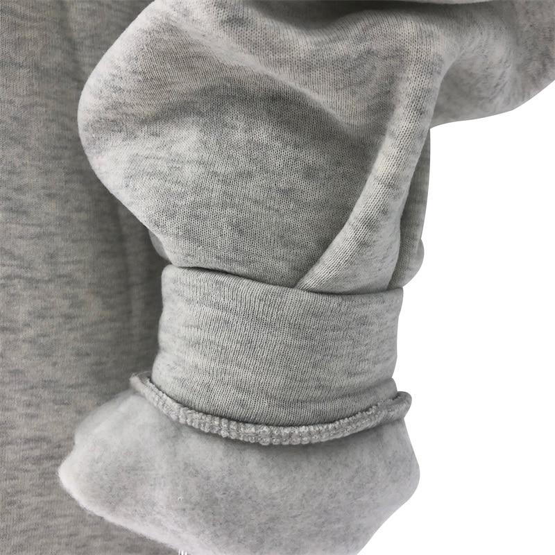 H6fb89ccad05347b4b3c915e4f3ba47031 Fashion women's cotton Stand collar half zipper letter printing long sleeve sweatshirts Vintage Grey casual loose sweatshirt