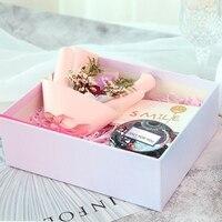 4Pcs/Set Japanese style Chiyoda Paper Tinplate Jar Aromatherapy Candle Romantic Wedding Candle Household Decoration CandlesHF
