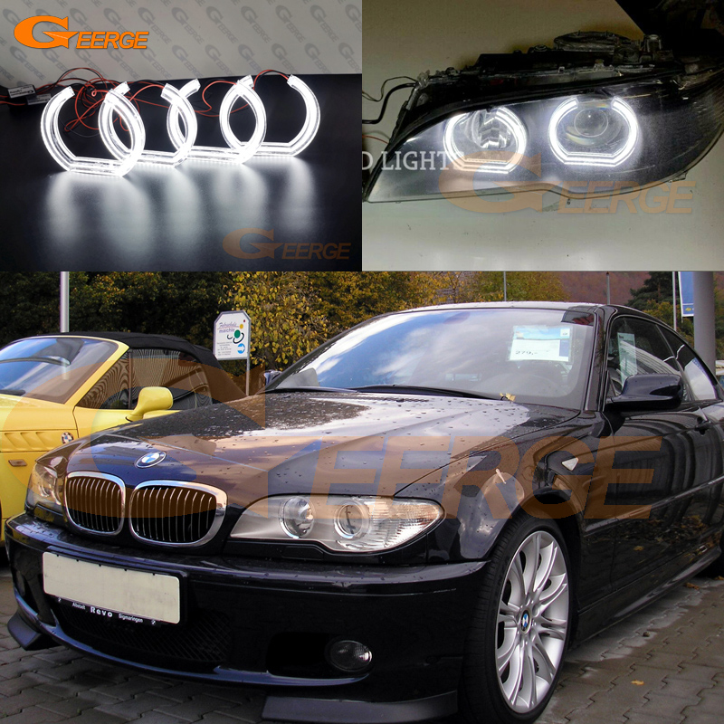 Excellent DTM Style Ultra Bright Led Angel Eyes Kit Halo Rings For BMW 3 Series E46 325ci 330ci Coupe Cabrio 2004 2005 2006 LCI