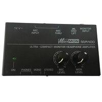 ABKT Ma400 fone de ouvido pré amplificador microfone pré amplificador fone de ouvido monitor pessoal mixer  plugue da ue|Acessórios de microfone| |  -