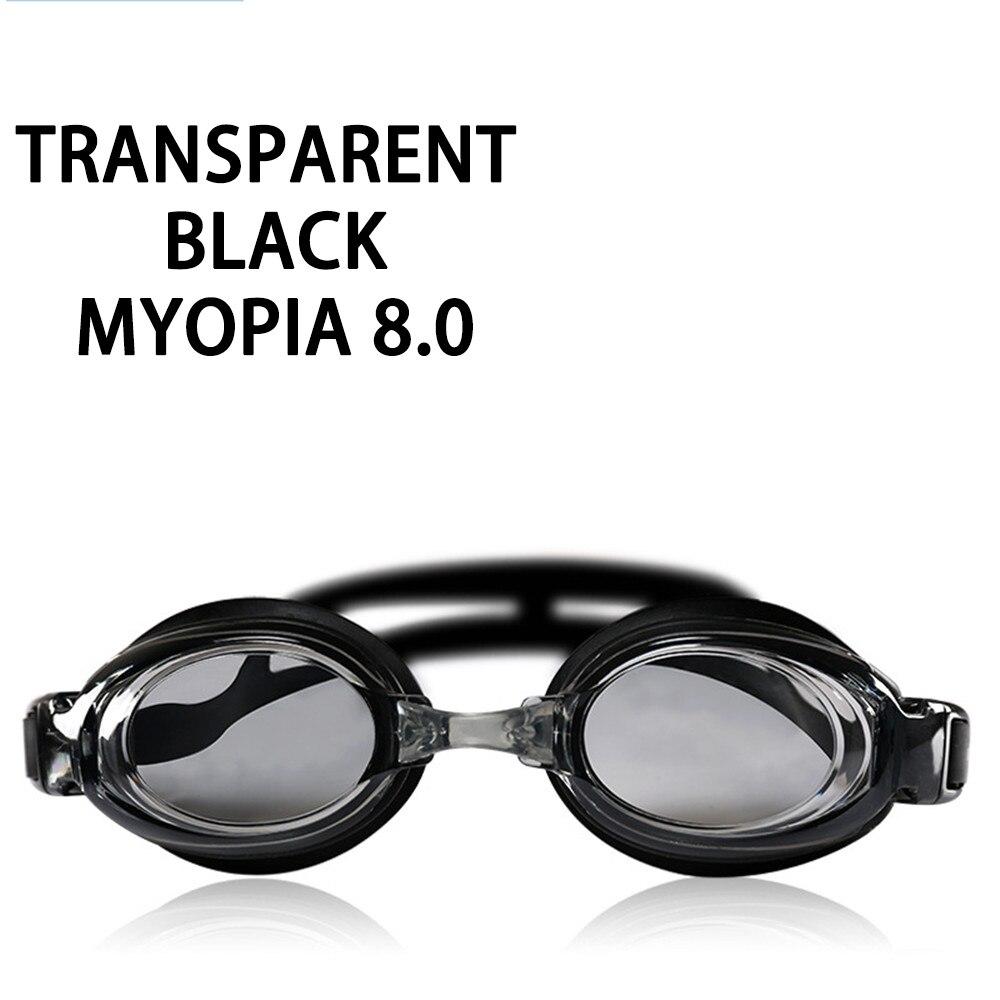 Оптическая близорукость плавательные очки 200-800 градусов Силиконовые противотуманные водная диоптрия плавательные очки для мужчин и женщин очки по рецепту - Цвет: Myopia 800