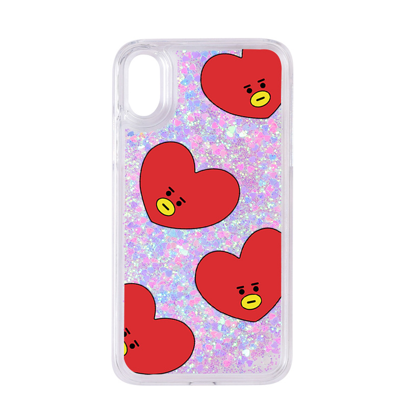 BTS Phone Case Bulletproof Boys Related Products Protective Case Suitable For Apple IPhone X/Xs Glitter Phone Case