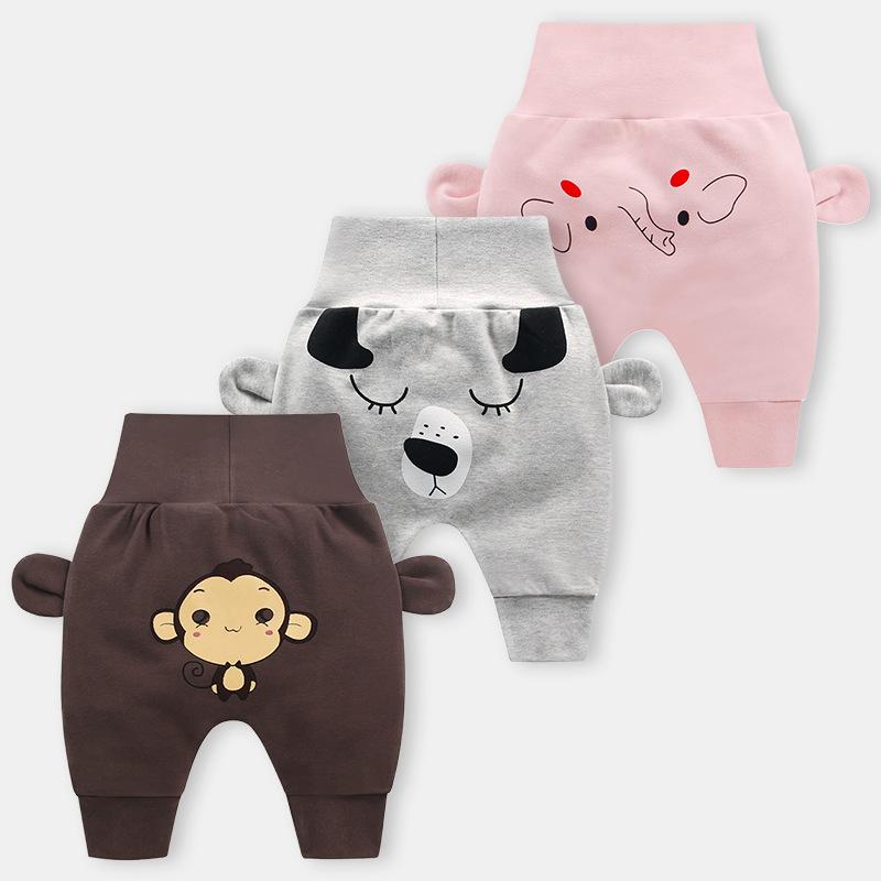 Baby cute pants boys girl cartoon high waist protection belly children toddler spring autumn newborn infant trousers cheap stuff