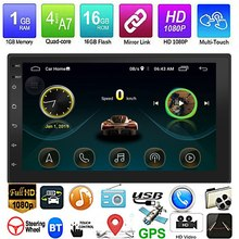 New Android 8.1 GPS Navigation WiFi 7 Inch 2Din Quad Core Car Stereo MP5 FM Player 9999(China)