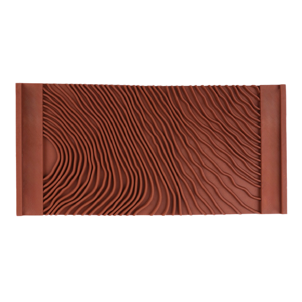 1 Pieces Imitation Wood Grain DIY Pattern Art Graining Rubber Wall Treatments Home Decoration Size 5.8 Inch X 2.8 Inch