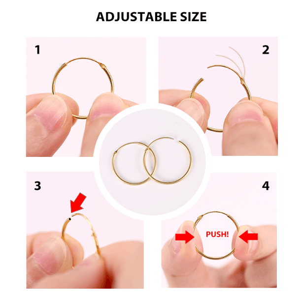 CANNER 1 Pair Small Hoop Earrings 925 Sterling Silver Circle Round Huggie Hoop Earrings for Women
