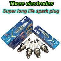 4PCS 3 L7T eletrodos da vela de Ignição para BM6A BMR6A WS6E WS7E BPMR6A WS7F CJ7Y W20MU L7TC M6 M7 BPMR7A 2 cadeia avc viu cortador de campo|mower|mower spark plug|  -