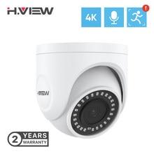 H. view 4k 8mp ip câmera de segurança cctv em casa câmeras de metal interior à prova dh.2água h.265 áudio vigilância por vídeo para poe nvr onvif