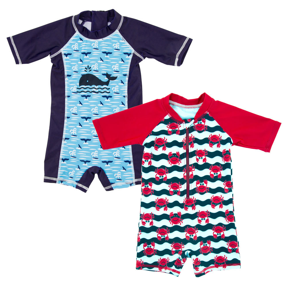 BOY'S Swimsuit Hot Selling Cartoon Sun-resistant Quick-Dry Middle And Large Baby Boy Cute Hot Springs Foreign Trade One-piece Sw