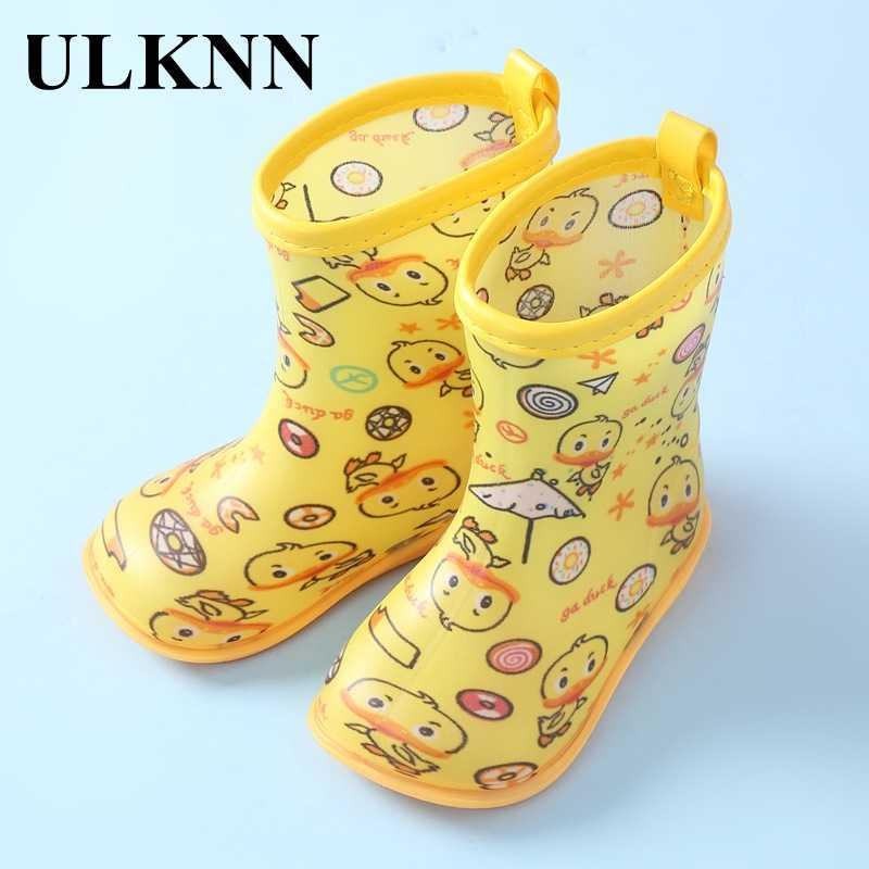 ULKNN Rubber Rainboots For Baby Little