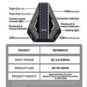 Image 5 - Los datos de la rana PUBG móvil juegos por cable de teclado conversor de ratón para PS4 Xbox one/360 Nintendo interruptor PS3 consola/Android SISTEMA DE