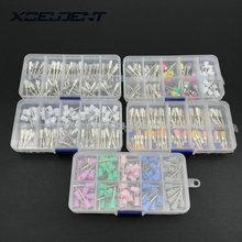 Устройство для полировки зубов набор инструментов Стоматологическая полировальная щетка полировщик Prophy резиновая чашка защелка красочные Buff нейлоновая щетина