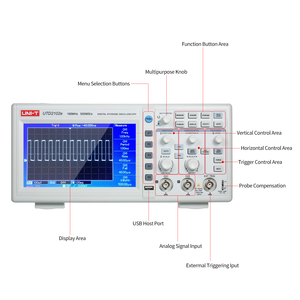 Image 4 - Oscilloscope numérique UTD2102e, UNI T MHz, analyseur logique, bande passante 2 canaux, stockage 100 Ms/S, Oscilloscope LCD 7 pouces TFT, 500