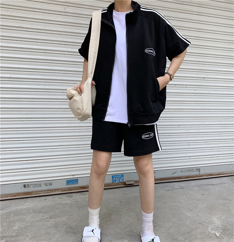 Photo Shoot 2019 WOMEN'S Dress Summer Korean-style Loose Casual Sports Short Sleeve Shorts Two-Piece Set