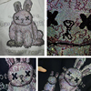 100% Pure Cotton Beading Funny High Quality Rabbit Fleece Lamb Hoodies 2021 Japan Hip Hop Casual Sweatshirts Streetwear 6