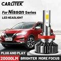 Автомобисветильник светодиодные ламсветильник CARLITEK H1 H7 H4 H11 12 В 9006 9005 H8 H9 высокой мощности для Nissan Qashqai Juke