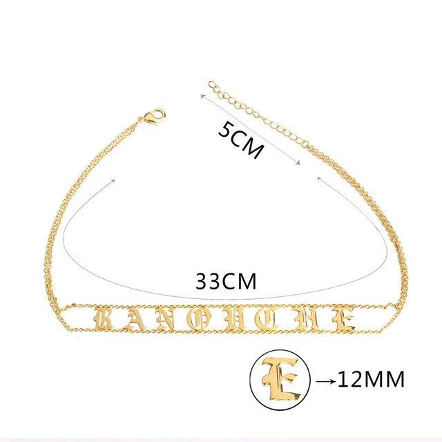 Купить новинка 2020 чокер с именем на заказ женское ожерелье медными картинки цена