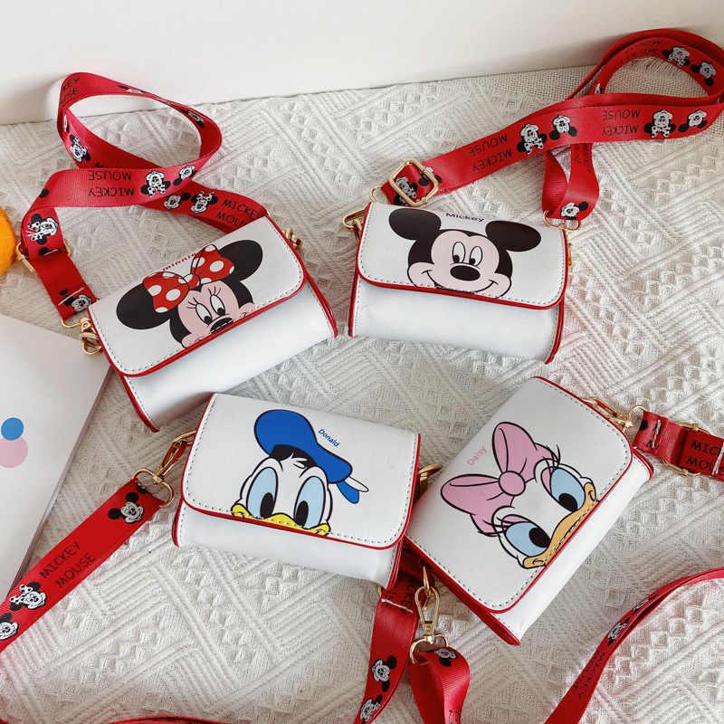Bolso pequeño de Disney para niños, mini bandolera con dibujos animados de Mickey, monedero para bebé, bolso cruzado para chica