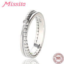 MISSITA 100% 925 Sterling Silver Punk Retro Finger Rings For Women Jewelry Brand Anniversary Wedding HOT SELL