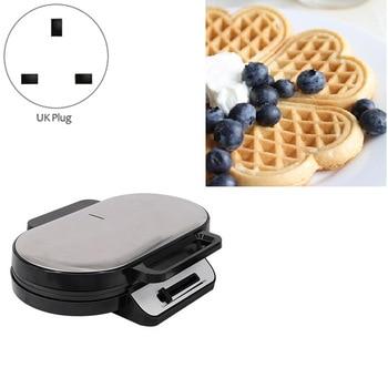Double Waffle Machine Sandwich Machine Non-Stick Coated Plate Breakfast Sandwich Machine Toaster UK Plug 2