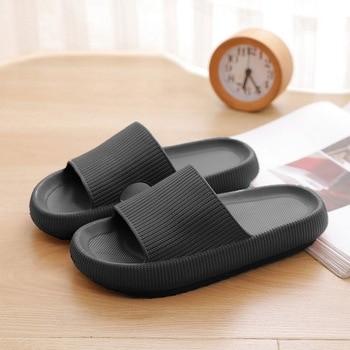 4.5cm Thick Sole House Slippers Men Women Non-slip Bathroom Footwear Boys Girls Lovers Flip Flops Summer Beach Sandals