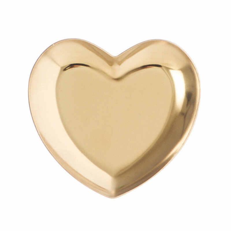 Gioielli a forma di cuore Anello di Immagazzinaggio del Supporto Del Vassoio di Orecchini A Catena Della Caramella Noci Organizzatore Vassoi di Stoccaggio Decorazione Della Casa Piastra