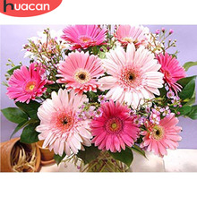 HUACAN Diamond Painting Flower 5D DIY Mosaic Daisy Full Square Drill With Diamonds Decor Picture Of Rhinestone