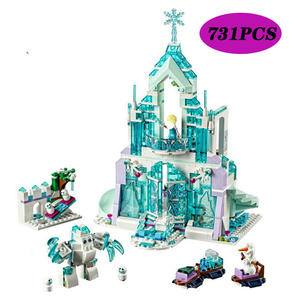 Bricks Toys Building-Blocks Ice-Castle-Set Lepining World-Series Magical Girls Friend