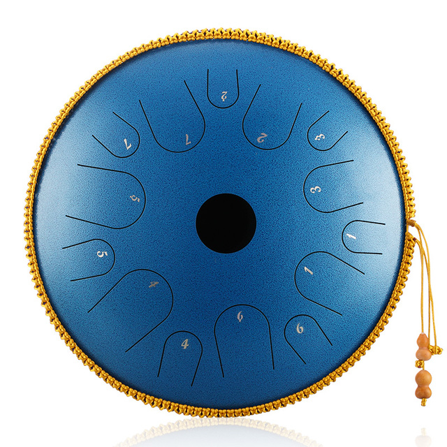 BeatRise Tongue Drum 14 Inch 14 Notes Steel Handpan Professional Percussion Instrument Tank Drum with Travel Bag Rope Decoration and Mallets for Meditation Yoga Zen Speckled Purple