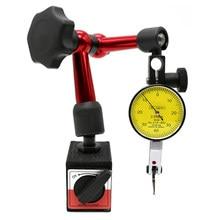 Comparador pequeno universal do teste do seletor do suporte 0-200mm 0.8 magnético do suporte da base do indicador do seletor de 0.01mm para a calibração do equipamento