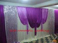 3m by 6m pink theme ice Silk Wedding Backdrop,drapery for Wedding Curtain Satin Swag Detachable Party Curtain Backdrop Drape