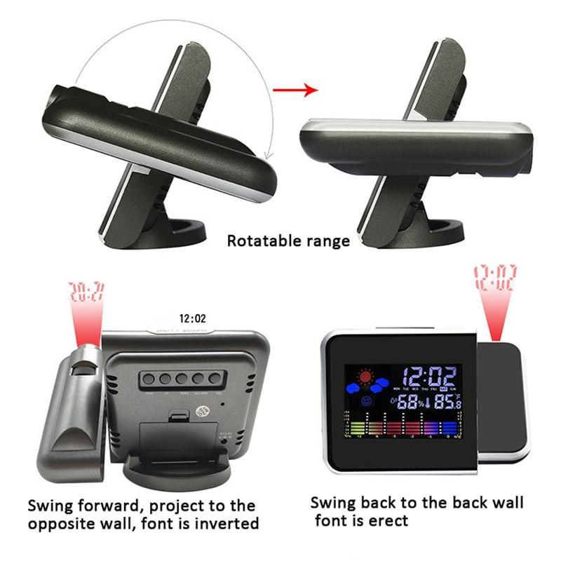 LED Projector Alarm Clock  5